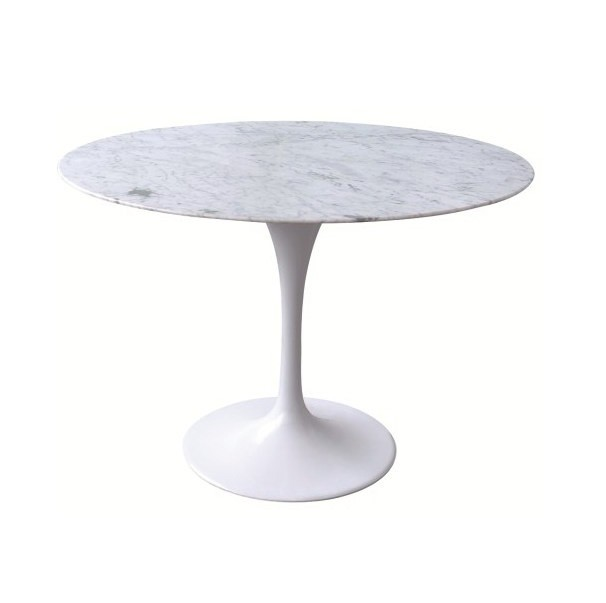 Mesa saarinen jantar redonda carrara rma m veis cl ssicos for Base de table ikea