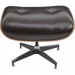 Puff Charles Eames Marrom- Couro Natural